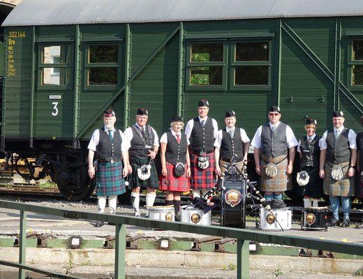 Vor Beginn der Fahrt des Highland Express in Dieringhausen