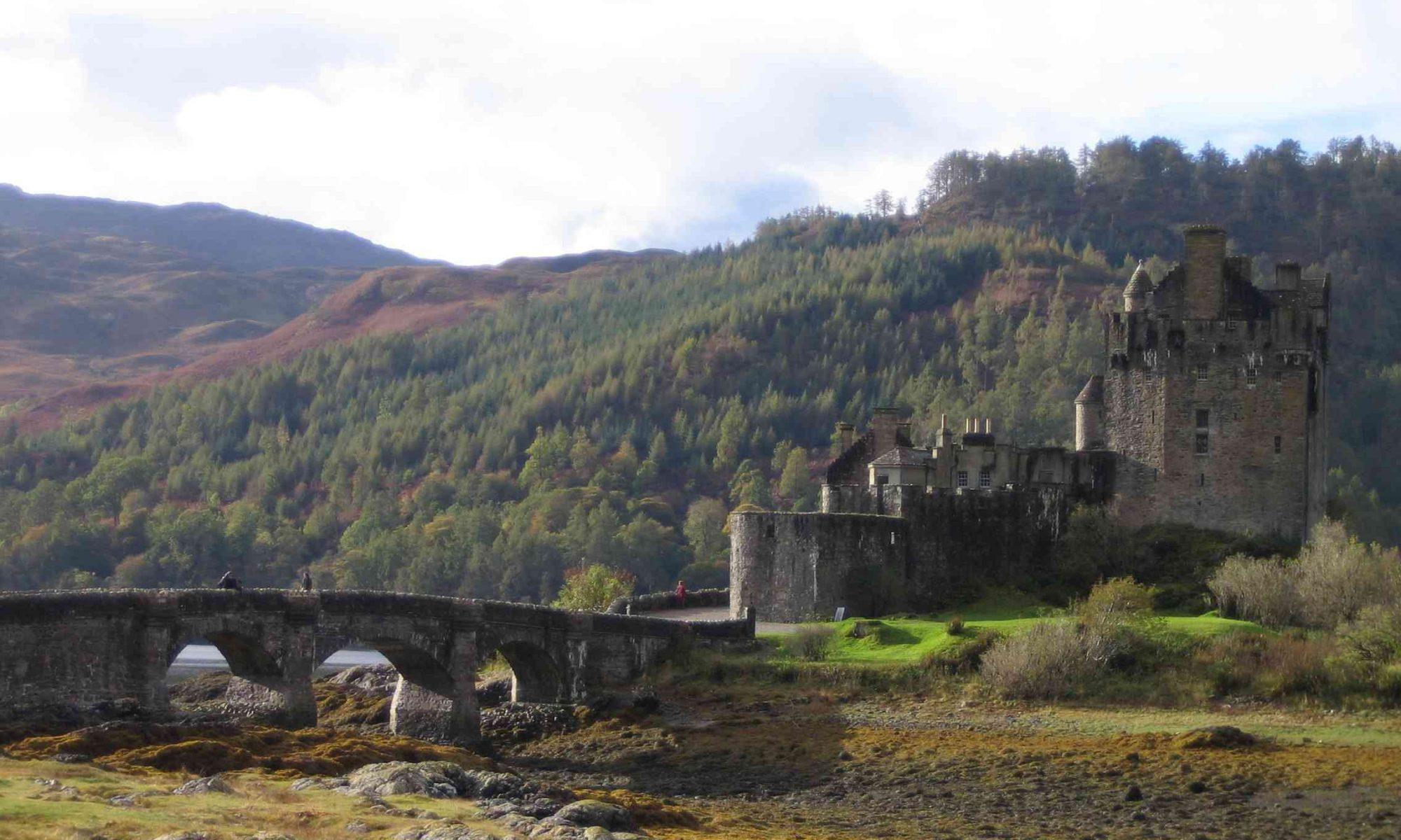 Schottland-Impression mit Burg