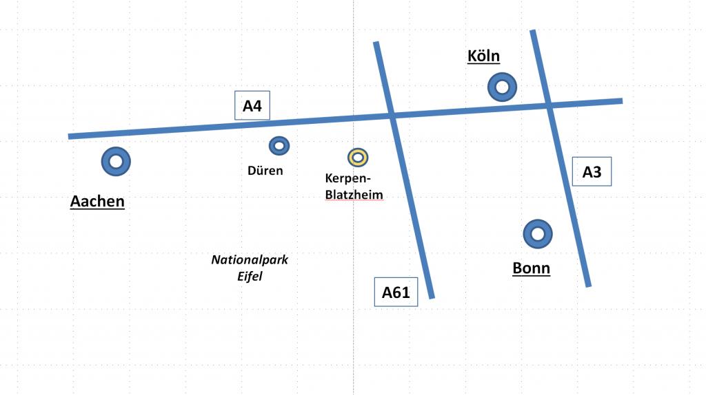 Lagekarte Kerpen-Blatzheim